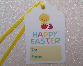 Easter gift tags etsy happy easter tags easter gift tags easter chick 25 easter birthday negle Choice Image