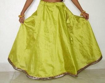 Girls lehenga / indian lehenga /Half circular skirt/ girls long skirt /dupioni skirt /raw silk lehenga
