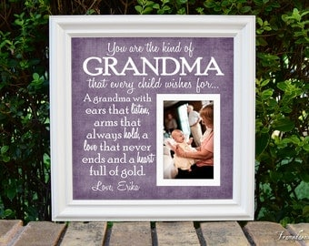 grandmother frame grandma picture frame grandparent personalized frame wooden frame square frame quote frame grandparent 15x15