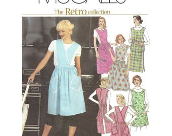 McCalls Retro Collection 3440 Sewing Pattern for Misses Aprons Size Small Thru XLarge Uncut
