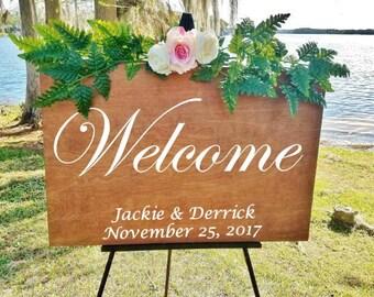 Welcome Wedding Sign/Wedding Welcome Sign Wood/24x36/Wood Welcome Sign/Ceremony Wedding Sign/Personalized Wedding Sign/Rustic Wedding