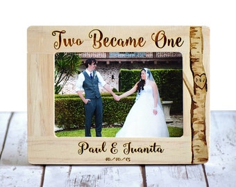 Personalized Wedding Frame, Wedding Gift, Rustic Frame, Two Became One, Wedding Gift, Gifts for couple, Anniversary Gift, Bridal Shower gift