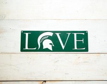 Michigan State University LOVE Steel Sign