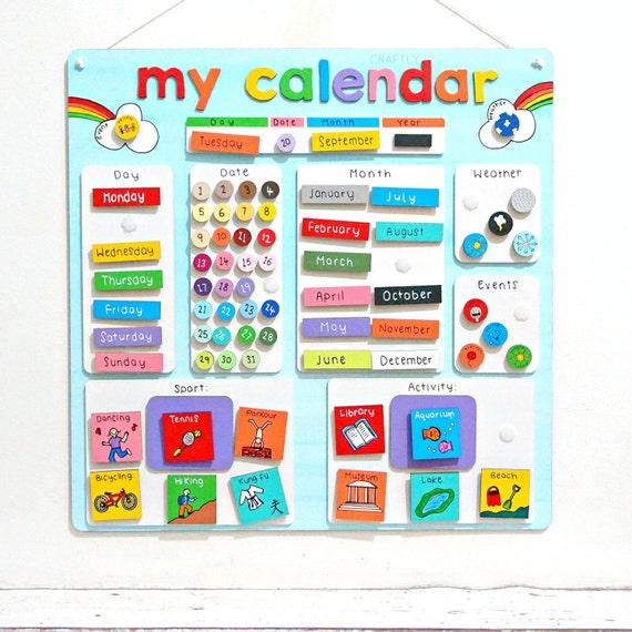 Calendar Chart For Kids : Childrens calendar activity planner reward chart kids