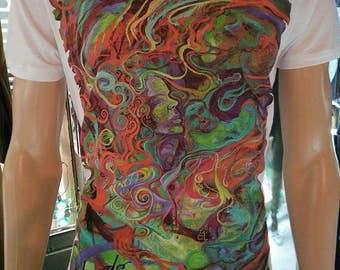 Disorder Art T-shirt (Wht/Grey)