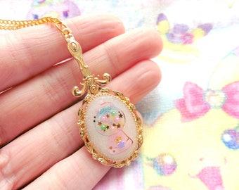 Fairy Kei Magical Mirror Gumball Machine Necklace