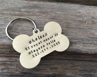 Dog ID Tag with Name, Address and Phone Number