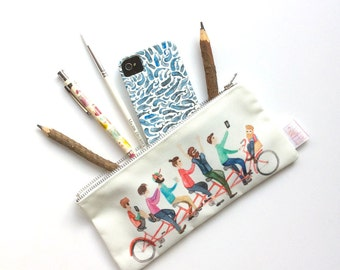 Gift For Cyclist, Pencil Case, Pencil Pouch, Pencil Case, Make Up Bag, Bicycle, Pouch, Small Bag, Zipper Pouch, Bag, pencil bag, organiser,