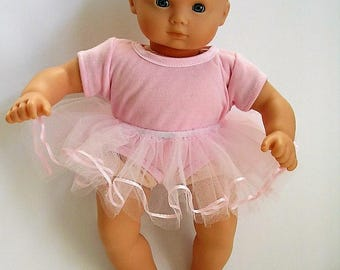 """Pink Tutu and Leotard for Bitty Baby and other 15"""" dolls"""