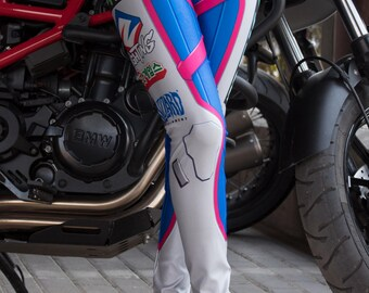 NEW! TAFI D.Va Overwatch Leggings - Blizzard Sci-Fi Video Game-inspired Body Armor Costume Yoga Pants 2017 CosPlay Designer Print