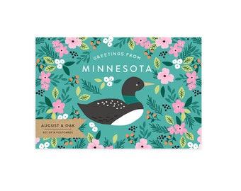 Minnesota State Bird Postcard - Set of 8