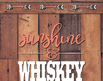 Sunshine and Whiskey Decal | Yeti Decal | Yeti Sticker | Tumbler Decal | Car Decal | Vinyl Decal