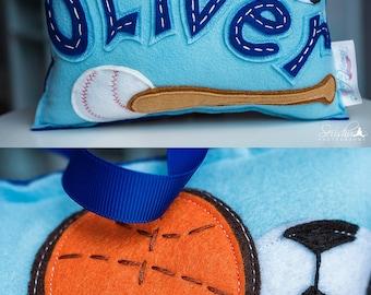 Tooth Fairy Pillow Boy, Baseball Pillow, Sport Kids Pillow, Basketball  Pillow, Soccer Pillow, Tooth Fairy Pillow Baseball, Baseball Bat