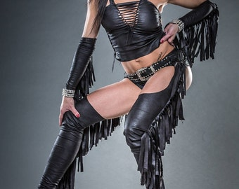 CHAPS  WIHAKAY for woman ripped and braided by Ça Déchire - Festival, Burning Man