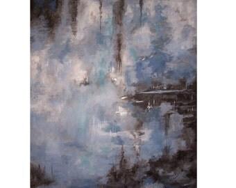"""Original Acrylic Painting titled """"Rainy Day"""" Modern Painting, Abstract Art, Abstract Painting"""