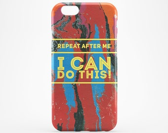 I Can Do This Quote iPhone 7 Case Watercolor iPhone 6 Hard Case iPhone 7 Plus iPhone 6S Plus Case iPhone SE Cover iPhone 4-5 Quote iPhone 5C
