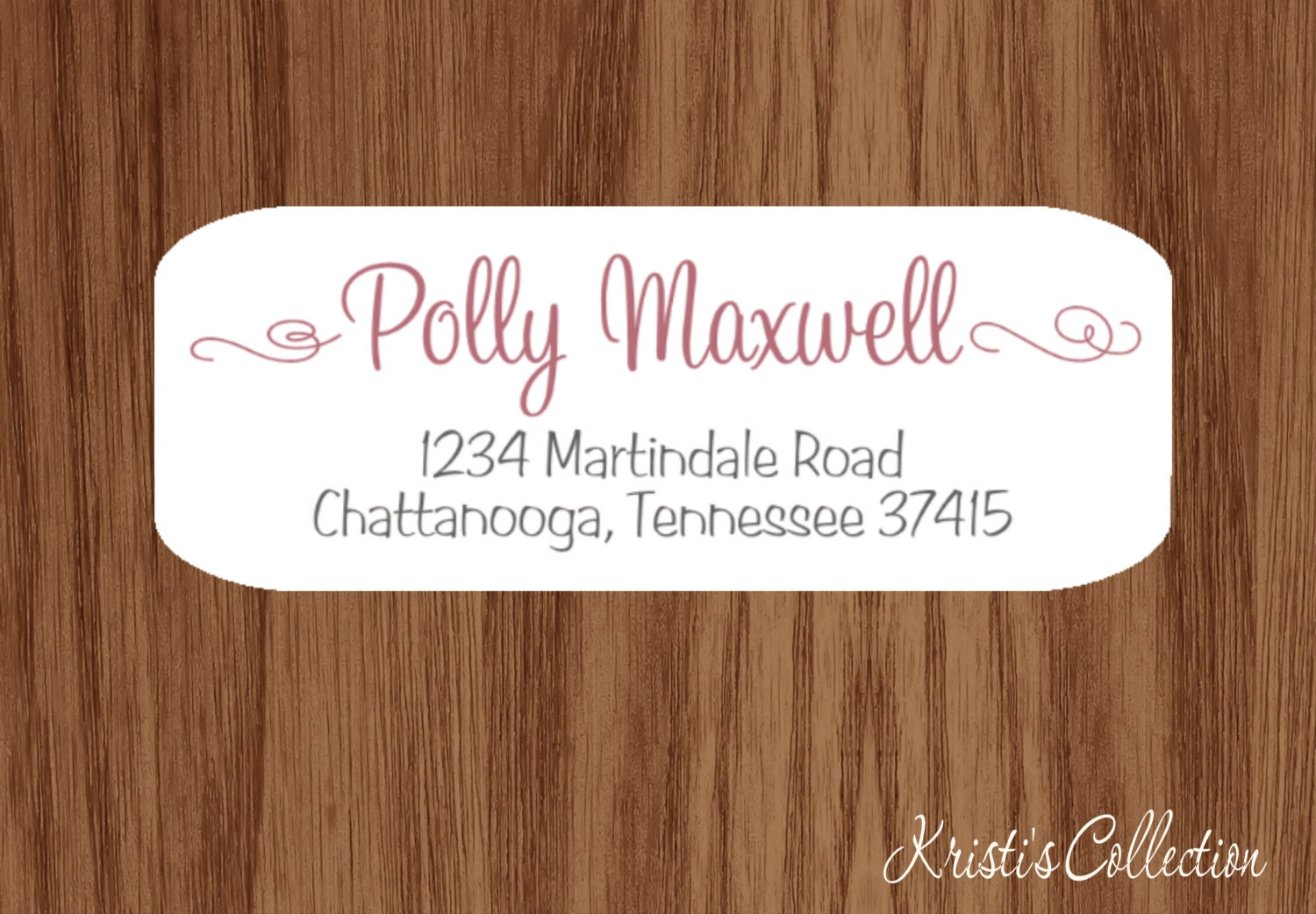 Ladies Return Address Labels Stickers Custom