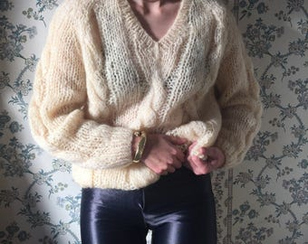 Knitting Patterns For Mohair Jumpers : Mohair sweater Etsy