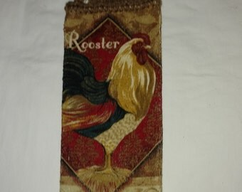 Colorful Rooster Hanging Kitchen  Towel