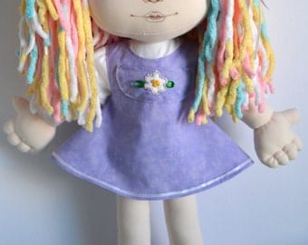 Handmade cloth doll 19 inches and clothing