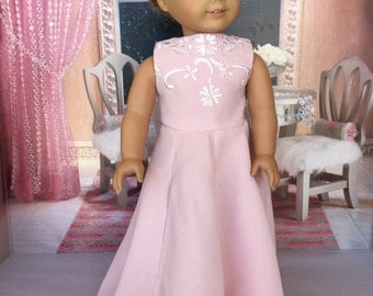 18 inch doll evening dress -  18 inch doll clothes - designed to fit the  American Girl and similar 18 inch dolls