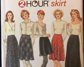Simplicity 9765 - Easy 2 Hour Bias Flared Skirt in Above Knee, Knee, Midi or Ankle Length - Size 10 12 14