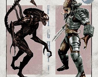 "Alien vs. Predator 11""x17"" Fight Poster"
