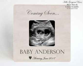 Pregnancy Announcement Picture Frame Ultrasound Frame Expecting Photo Frame Pregnancy Gift to Expecting Parents Mother Personalized Baby