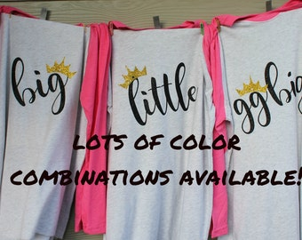 Big Little Sorority Clothing, Big And Little Sorority Shirts, Big Little Reveal Shirts, Big Little Sorority Shirts, Sorority Family Shirts