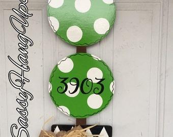 Topiary Door hanger, Address Sign, Street Address Sign, House Number Sign, Home Address Sign, Address Door Hanger, Welcome Wreath, Christmas