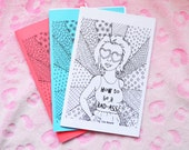 Zine How to be a Badass Colouring Book, Feminism, Self Love