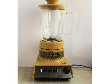 Vintage Hoover Blender Model k6003 - Vintage Yellow and Black Hoover Blender with Glass Pitcher - Vintage Hoover Blender