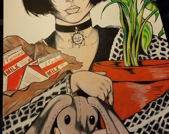 MATHILDA - Leon: The Professional - Movie Character Art Print, Natalie Portman, Wall Art, Movie Art, Hollywood Poster Art, Pop Art, Fan Art