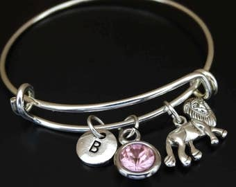 Lion Bangle Bracelet, Adjustable Expandable Bangle Bracelet, Lion Charm, Lion Pendant, Lion Jewelry, Lion Gifts, Lion Birthday, Wild Animal