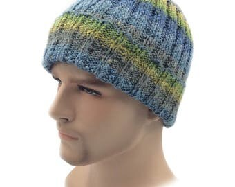 Rustic Seafarer beanie festival hat, Summer hat, Hand knitted hat, Summer beanie, silk hat beanie, hats for men, knitted hat Gifts for him
