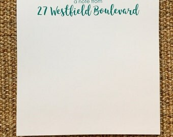 Personalized Address Notepad - A Note From - Hostess Gift - Birthday Gift - Housewarming Gift - 3.67x8.5 - 5.5x5.5 - 5.5x8.5