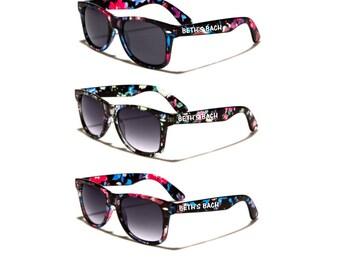 Floral ADULT Personalized Sunglasses, Bachelorette Weekend, Garden Wedding, Bride Tribe, Bride Squad, Flower Custom Sunglasses, Fall Wedding