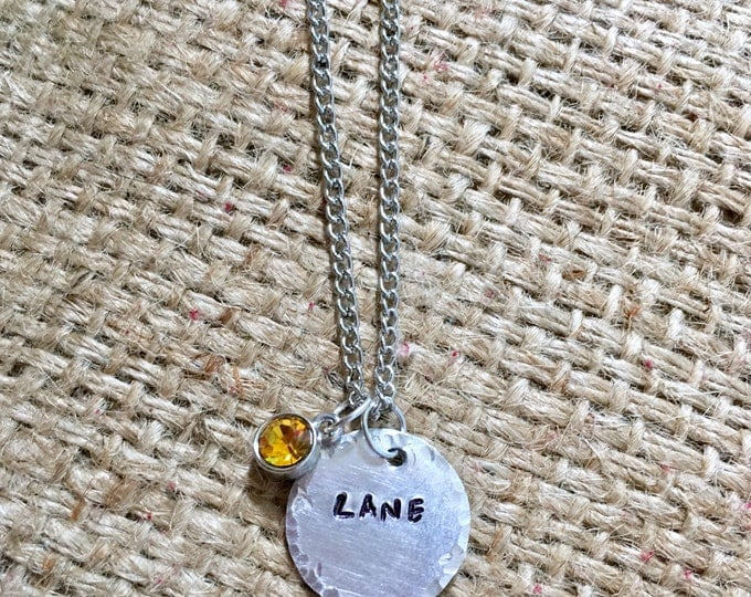 Custom Name Necklace, Circle Name Necklace, Tiny Name Necklace, Child Name Necklace, Baby Name Necklace, Silver Name Necklace, Mom Necklace