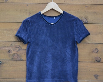 Vintage 1980's Velvet Corduroy Top Size Small Extremely Nice Quality