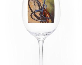 On the Wheel Single Wine Glass - Sidewalk Glint