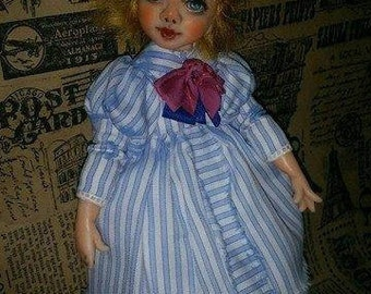 "OOAK art miniature doll ""Leila"""
