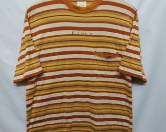 Vintage 90s//Karl Helmut//Awesome stripe pocket shirt//Size M