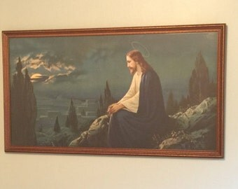 items similar  vintage religious print  jesus