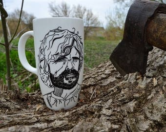 Game of thrones mug Large coffee mug Game of thrones gift Tyrion Lannister mug Large mug Big mug Huge mug for him Gift for bearded men