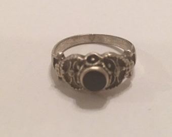 Sterling Silver 925 Black Onyx Ring