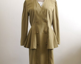 Two dollars dress Clearance SALE  - Vintage olive green secretary dress