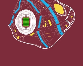 West Ham United FC - London Stadium. Art Print