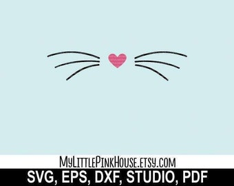 Bunny svg, kitty whiskers, cat svg, cat whiskers, cat design, cricut downloads, digital download, svg files, silhouette svg, svg designs