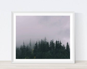 Forest Wall art, , Woodland Print, Forest Landscape, Forest Photography, Tree, Foggy Forest, Fogg, Tree Print, Forest Print, Forest Prints
