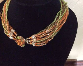 Vintage 1950's Seed Bead Necklace